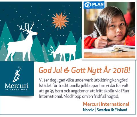 God Jul önskar Mercuri International